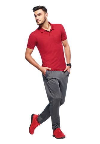 Buy Men's Red Polo Collar T-shirt Online  In India