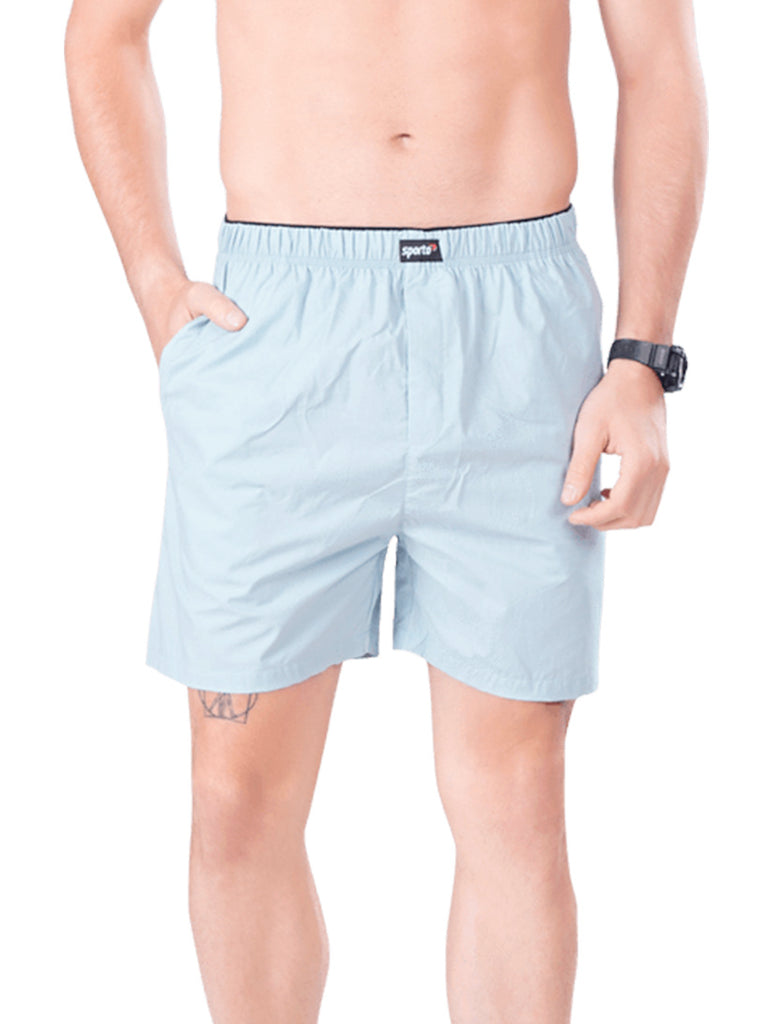Buy Stylish Light Blue Men's Shorts Online In India