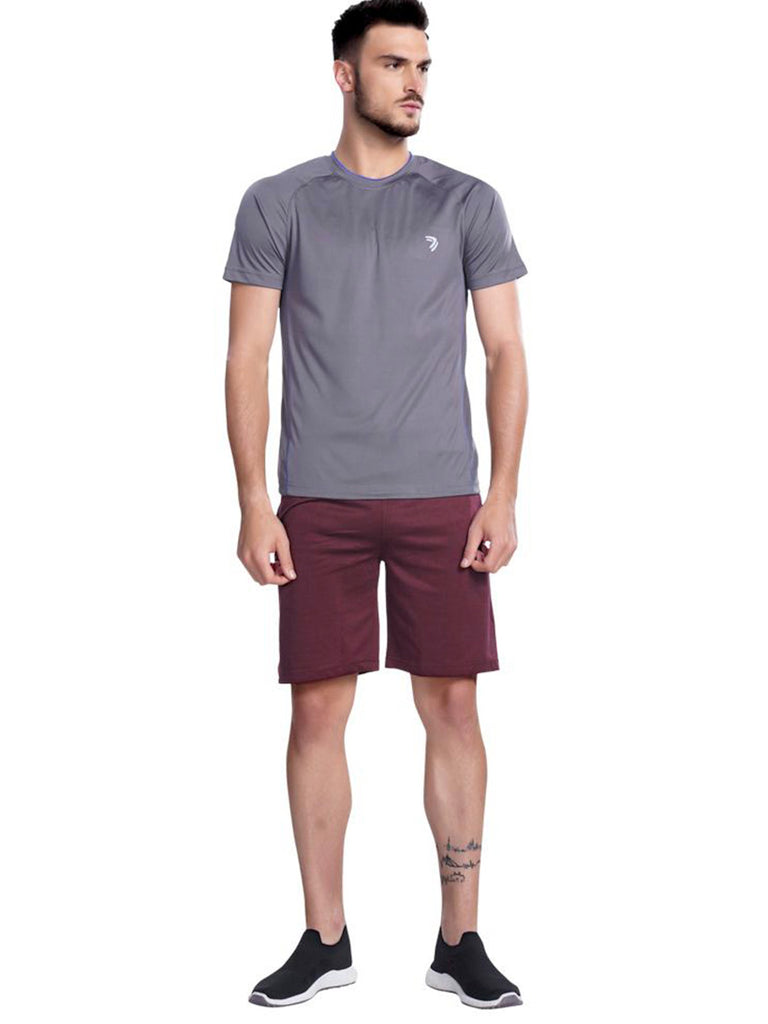 Buy Grey Contrast Sports Jersey Online In India