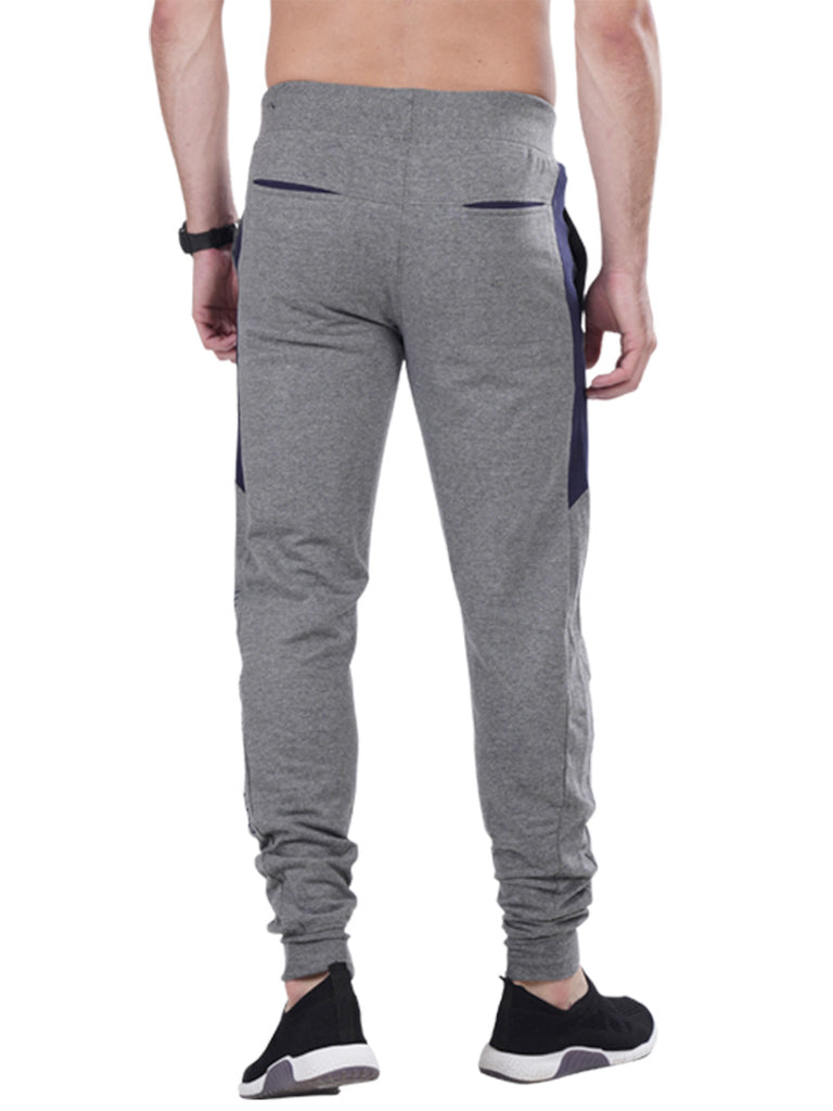 Buy Grey Joggers With stylish print For Men Online