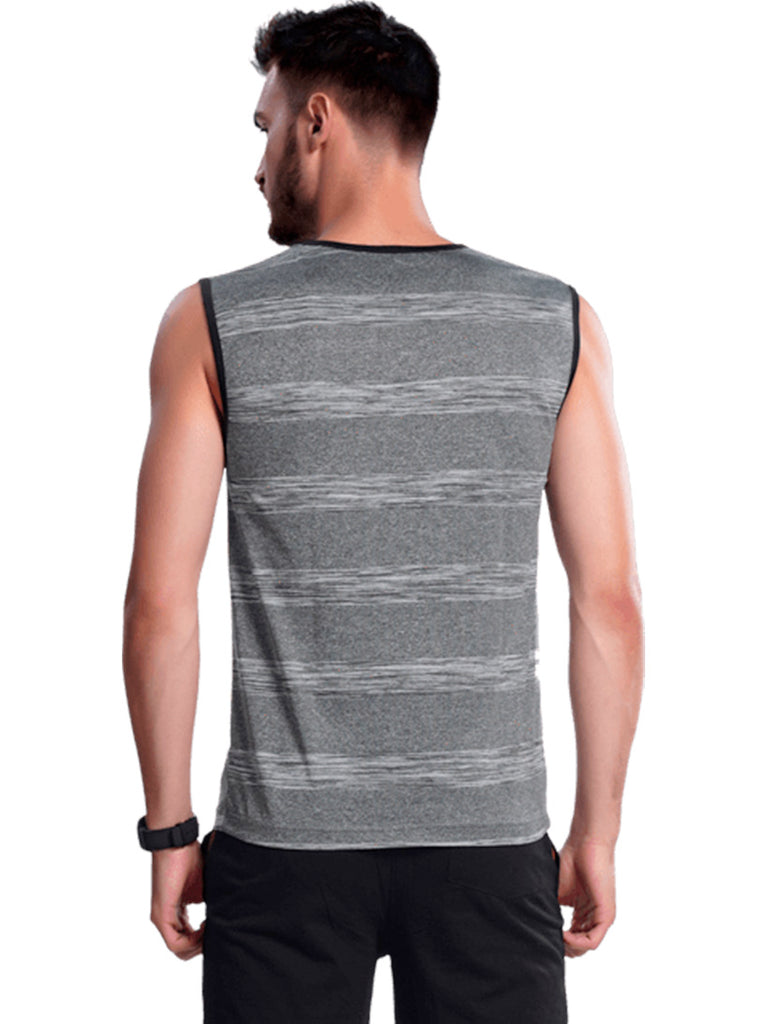 Buy Grey Sleeveless Sports Jersey T shirt For Men Online In India