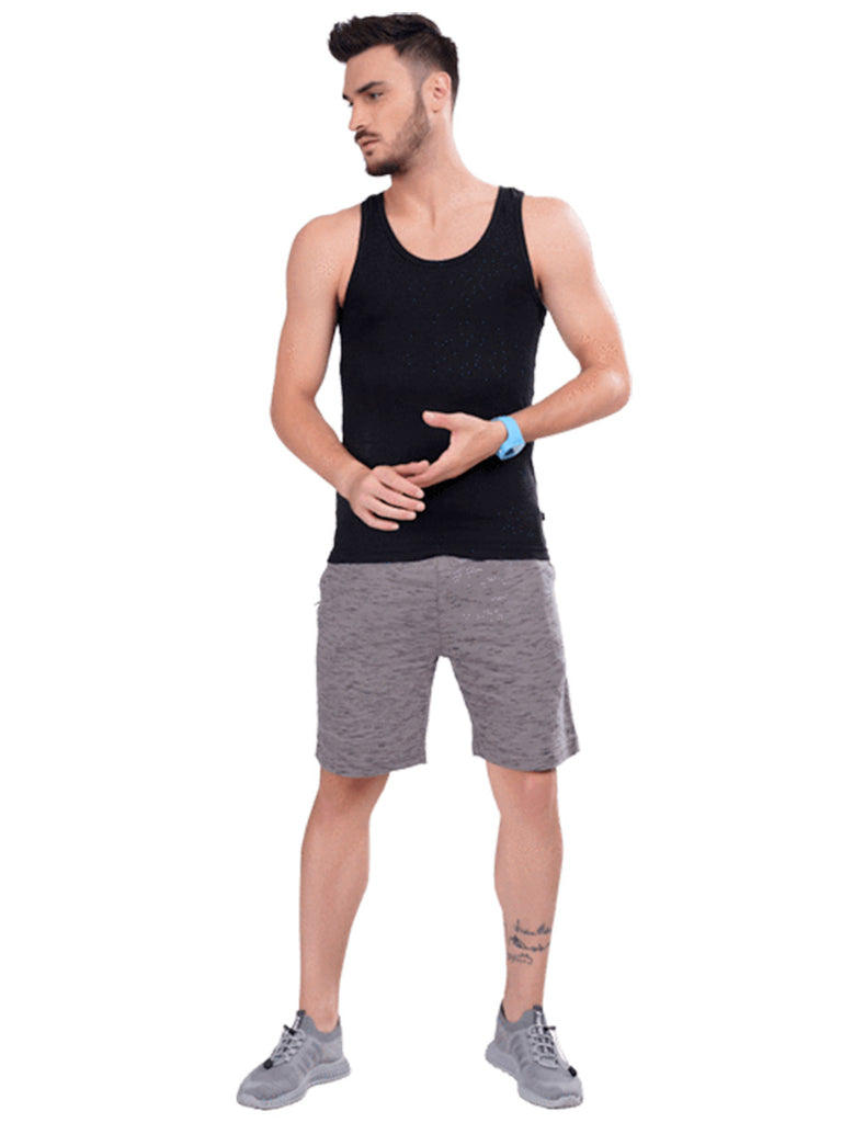 Buy Black Sleeveless T shirt For Men Online In India