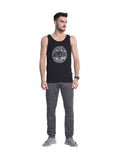 Buy Black Chest Print Gym Vest For Men Online In India