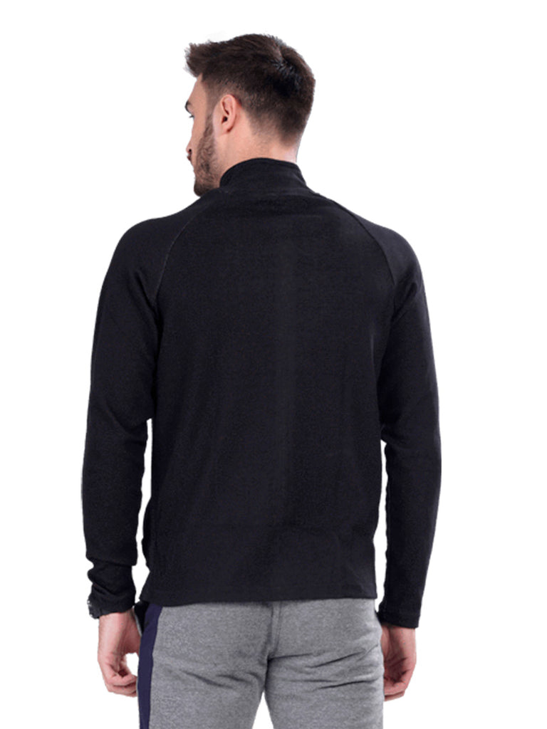 Buy Stylish Black Jacket With Dual Zipper Pocket For Men Online In India