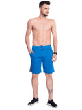 Buy Blue Shorts With Contrast Lines For Men Online