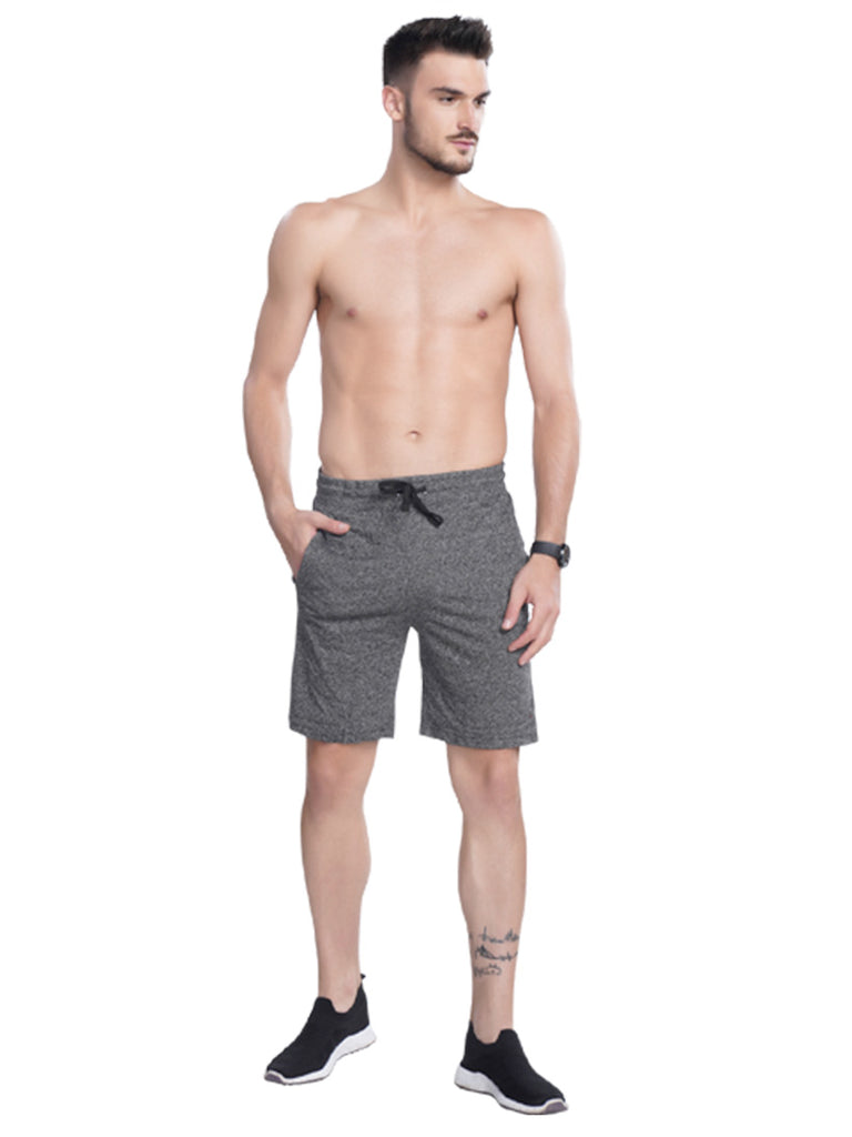 Buy Dark Grey Men's Bermuda With Stylish Drawstrings Online In India