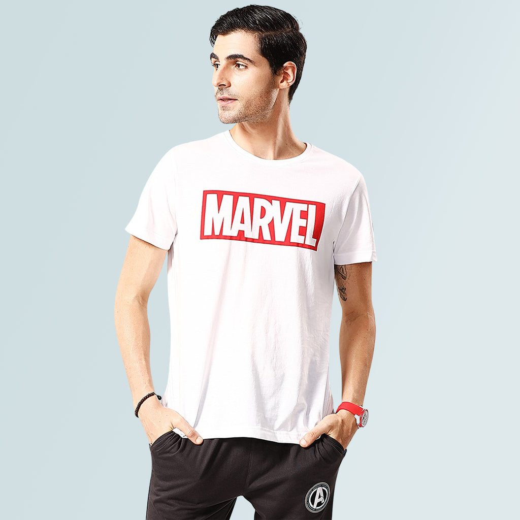 Men's Marvel Tshirt - White