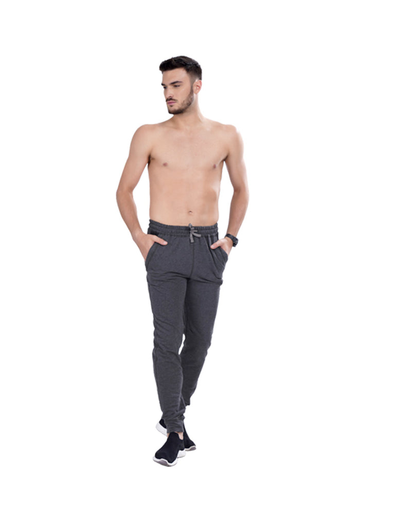 Buy Slate Grey Solid Joggers For Men Online