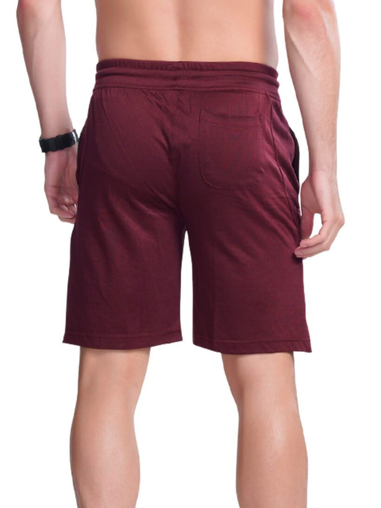 Buy Maroon Bermuda With Colourful Draw Strings For Men Online