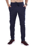 Stylish Men's athlesiure track pants- Dark Blue