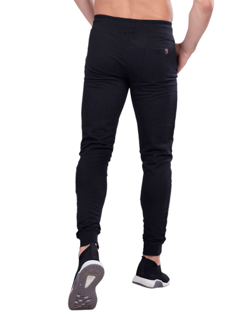 Buy Black Broad waistband joggers For Men Online