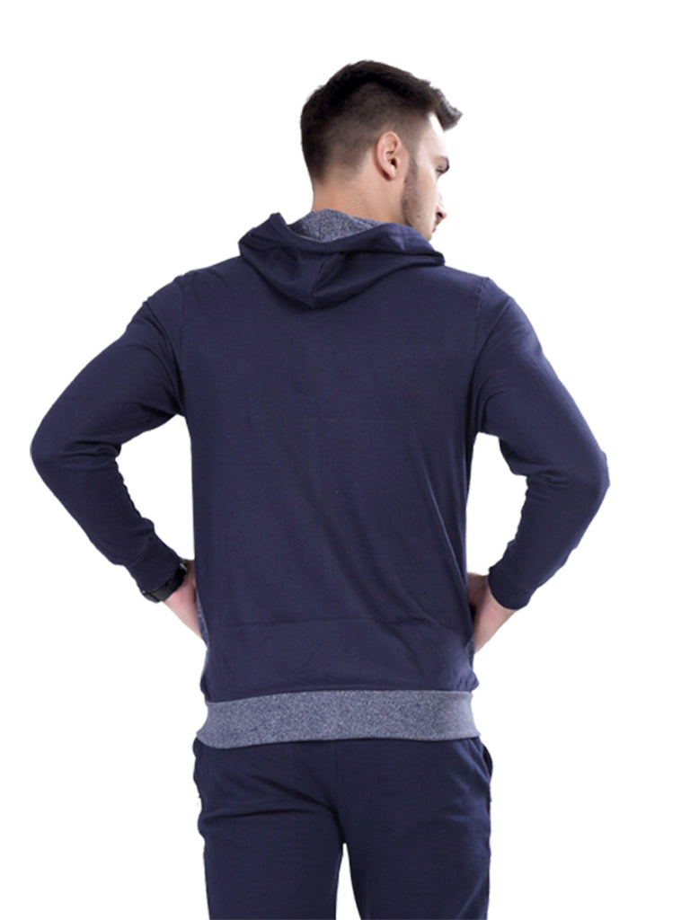 Buy Navy Jacket With Hoodie  For Men Online In India
