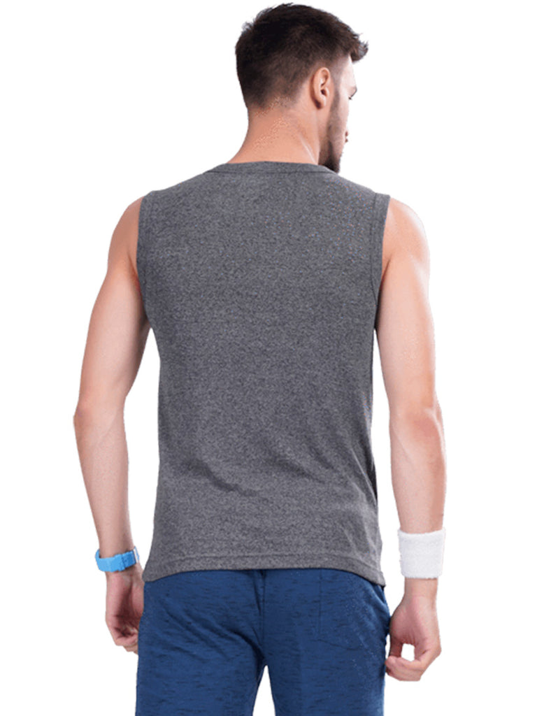 Sleeveless T-shirt- Black