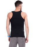 Solid Gym Vest- Dark Grey