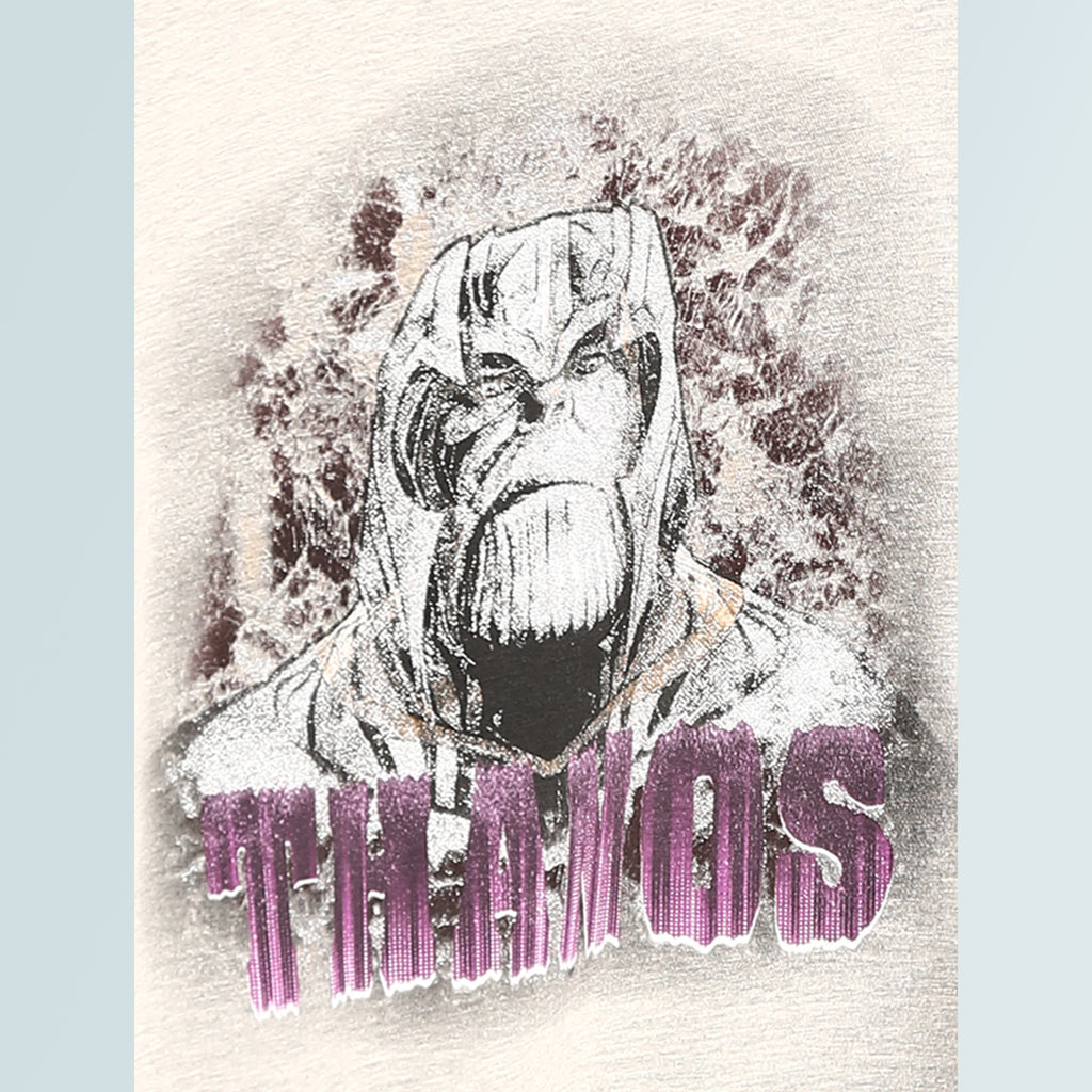 Thanos Cotton T-shirt - Grey