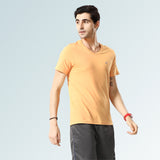 Solid V Neck T-Shirts- Red