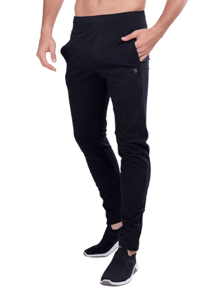 Terry Knit Track Pants- Dark Grey