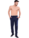 Buy Navy Printed Track Pants For Men Online in India