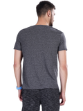 Buy Dark Grey Printed Round Neck T shirt For Men Online In India