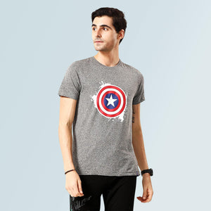 Captain America T-shirt - Grey - Sporto