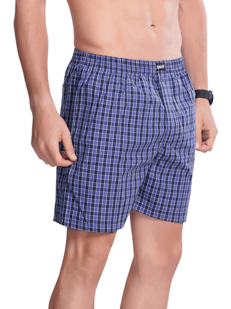 Checks Boxer For Men- Red