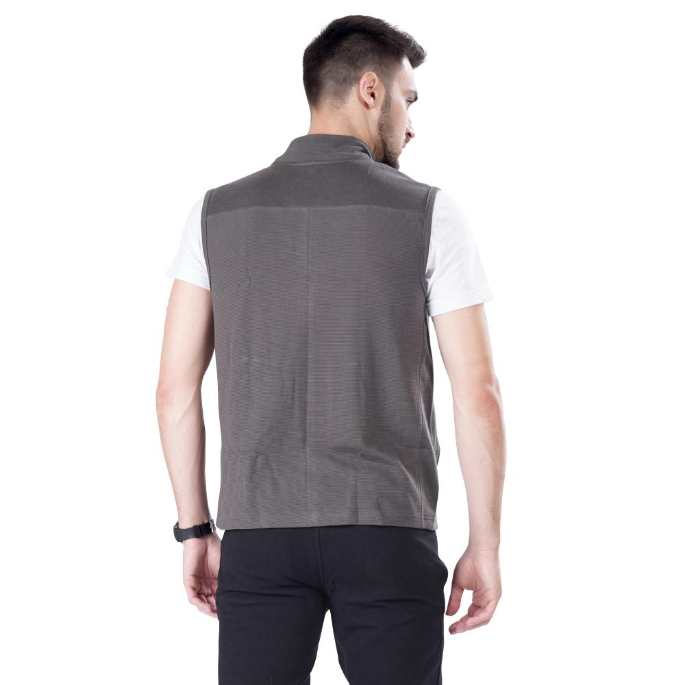 Buy Slate Grey Sleeveless Jacket For Men Online In India
