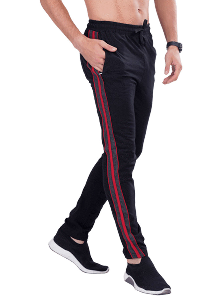 Track pants with side panel for Men- Navy