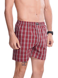 Checks Boxer For Men- White