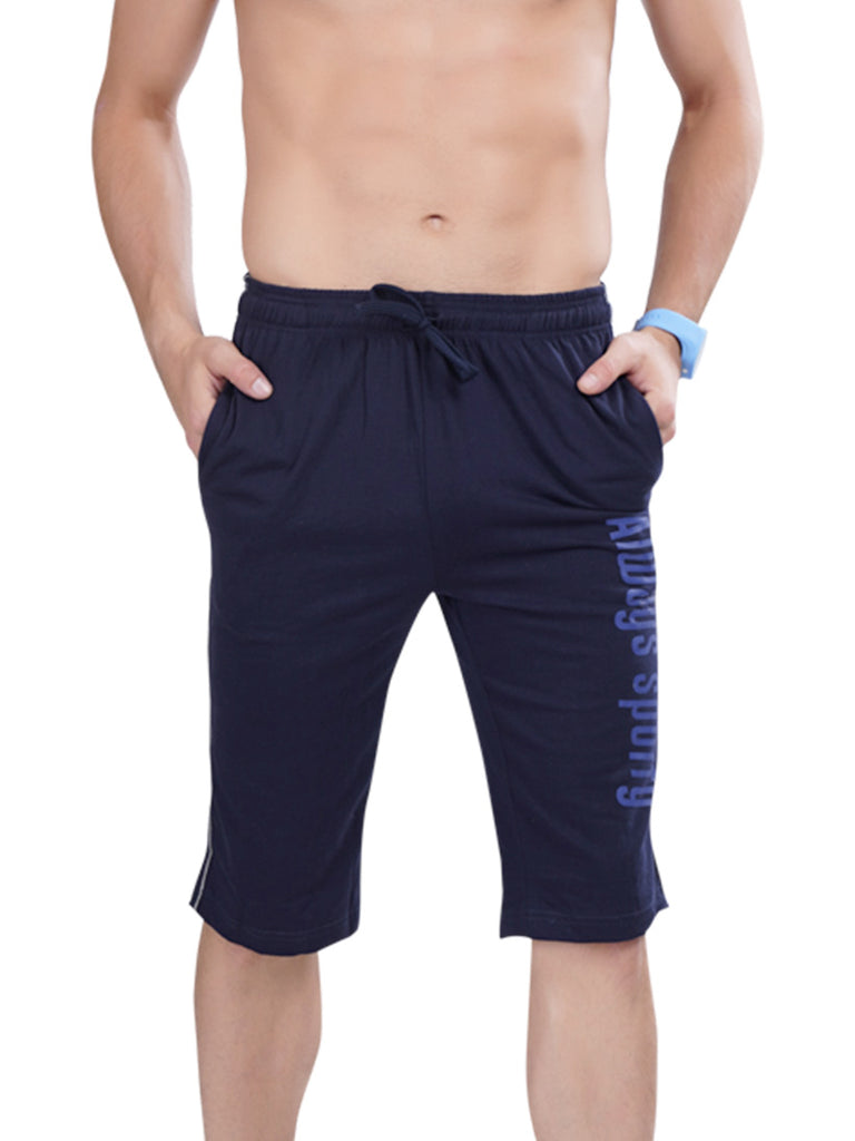 Dark Grey Stylish Capri For Men