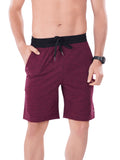 Men's Shorts With Broad Waist Band-Grey
