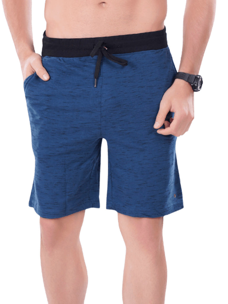 Men's Shorts With Broad Waist Band-Black