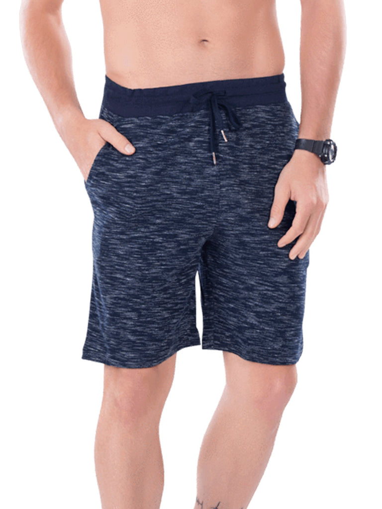 Men's Shorts With Broad Waist Band- Black