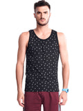 Printed Gym Vest- Blue