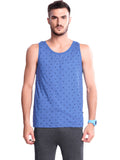 Printed Gym Vest For Men - Black