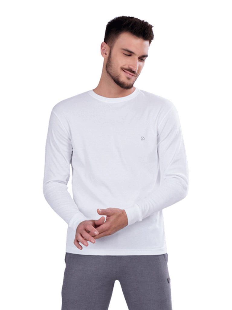 Round Neck Full Sleeve T-Shirts- Dark Grey