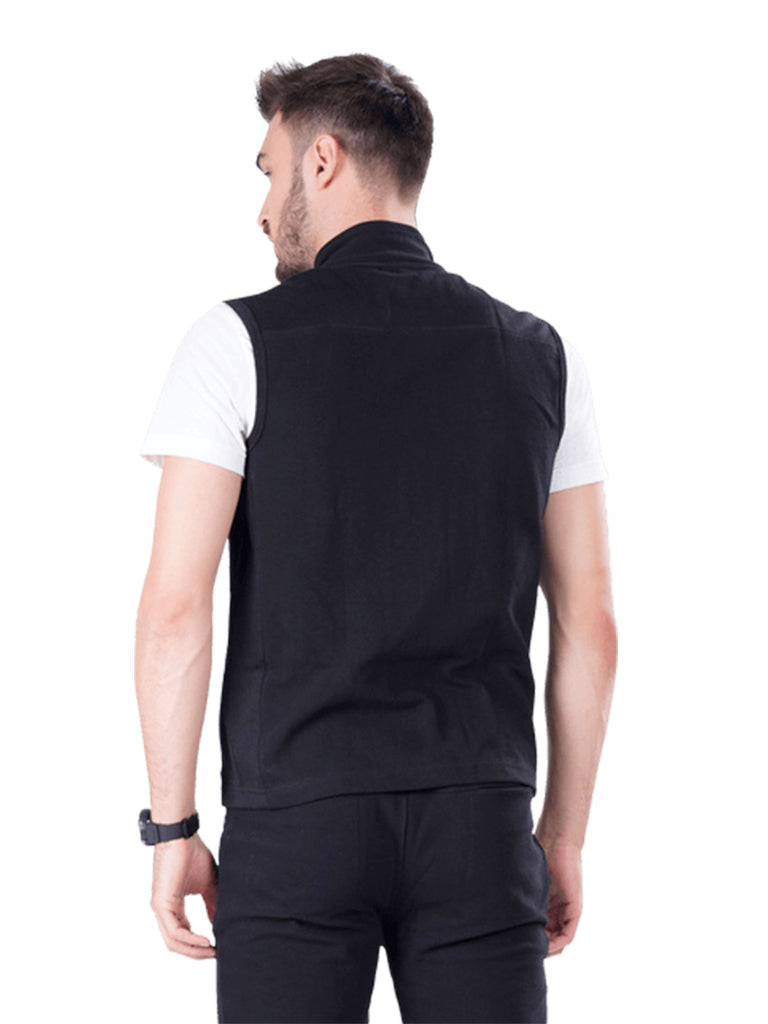 Sleeveless Jacket- Black