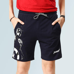 Captain America Shorts For Men - Blue