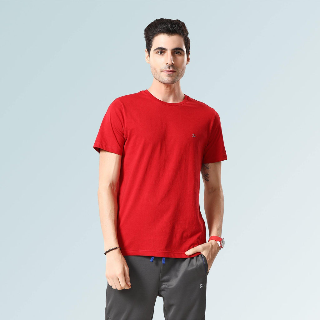 Solid Round Neck T-Shirts- Golden Rod