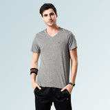 V Neck Tshirts for Mens- White