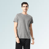 Solid Round Neck T-Shirts- Black