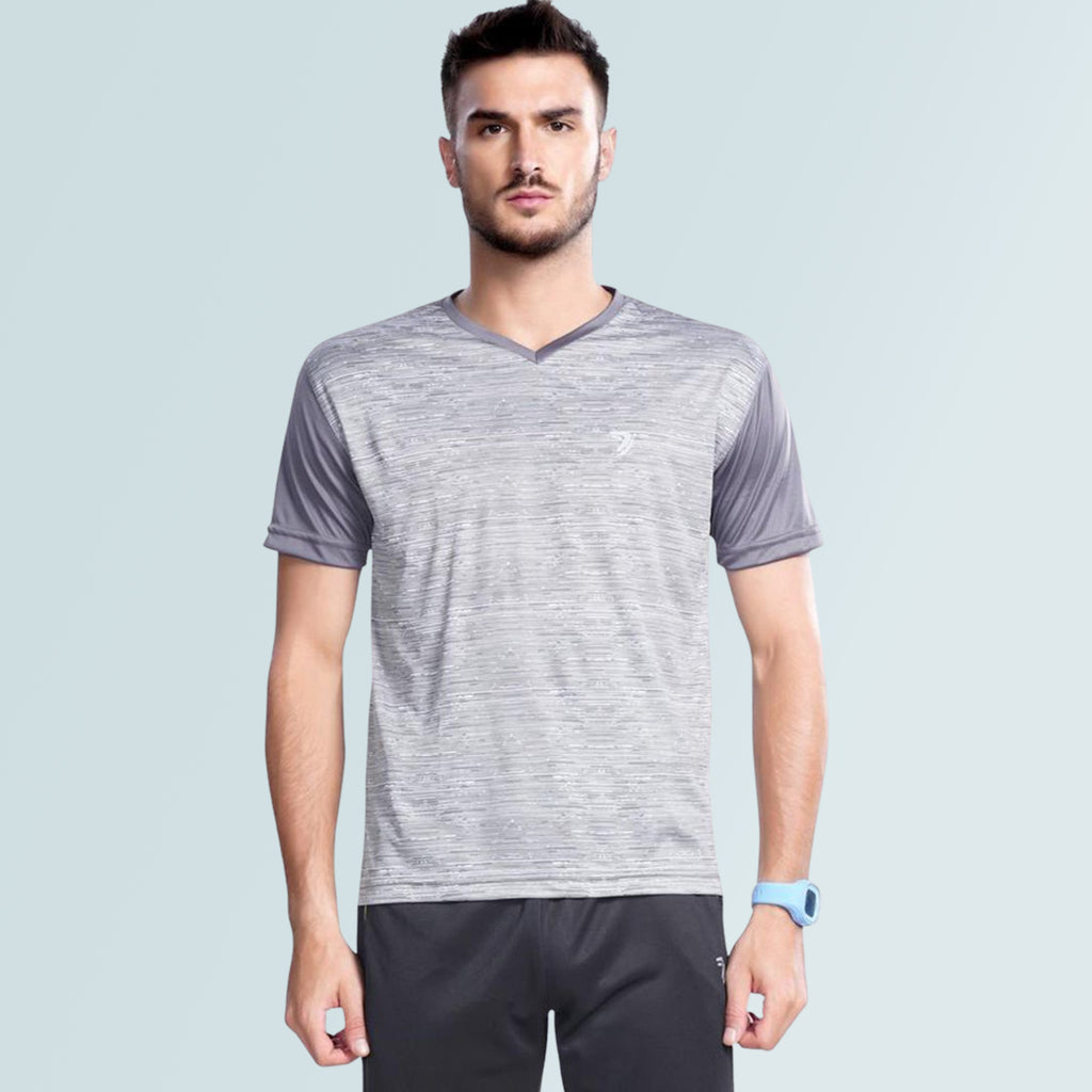 Slim Fit Jersey For Men-Grey