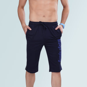 Navy Stylish Capri For Men