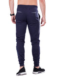 Joggers with stylish print- Navy