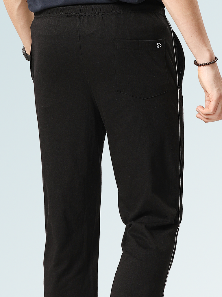 Punisher Cotton Track Pants- Black