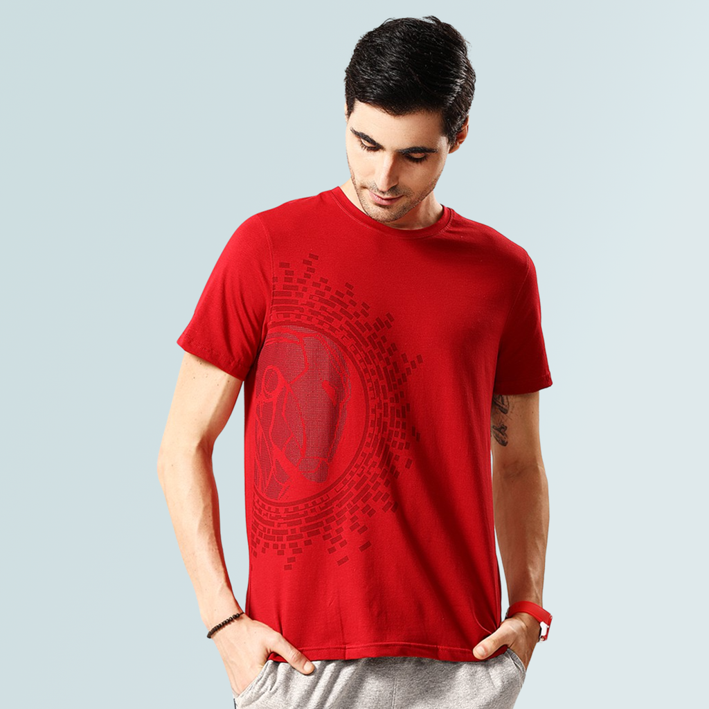 Iron Man Cotton T-shirt - Red