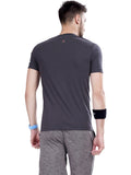 V Neck Tshirts for Men-Grey