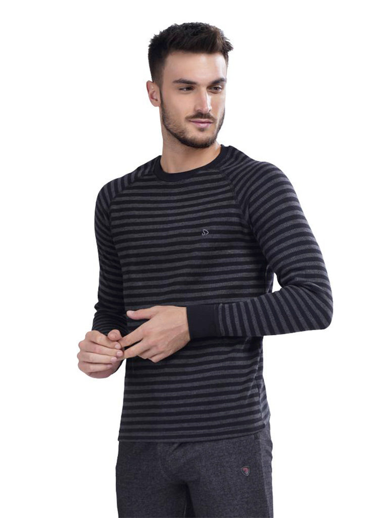 Stripped Pullover T-Shirt For Men- Blue