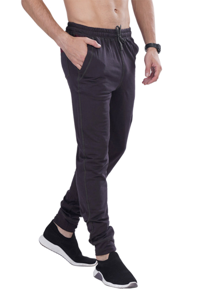 Mens Solid Joggers- Navy