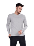 Round Neck Full Sleeve T-Shirts- White