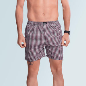 Checks Boxer For Men- Red - Sporto